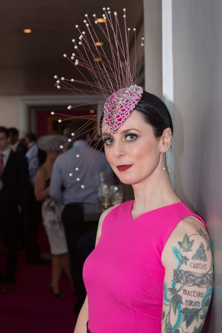 Andrea Tighe of Tí Tighe Designs at the g Hotel & Spa on Ladies Day 2015 http://www.theghotel.ie/galway_races.html