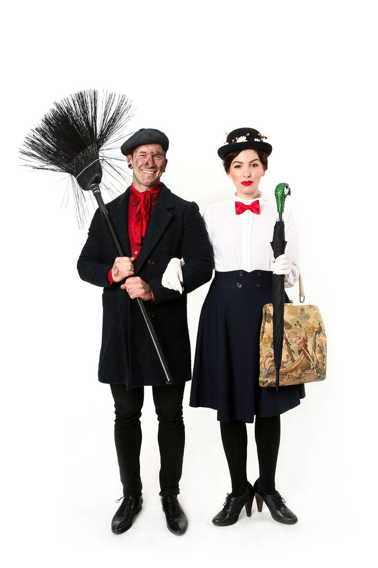 halloween couples costume idea mary poppins and bert