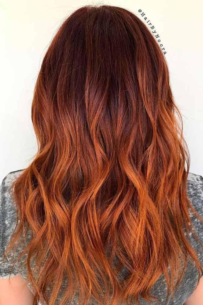 30 Elegante und schicke Farboptionen und -stile für wunderschönes Auburn-Haar