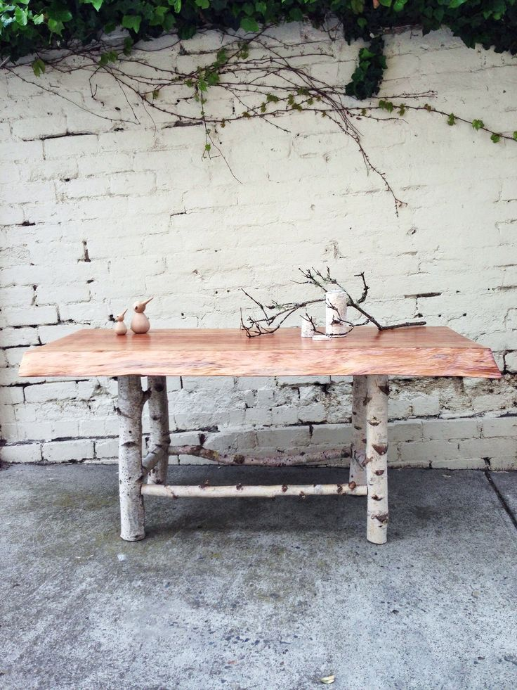 Hand Crafted Table For Little Kings. Silver Birch Legs U0026 Redwood Sequoia  Top. Tree FurnitureFurniture ...