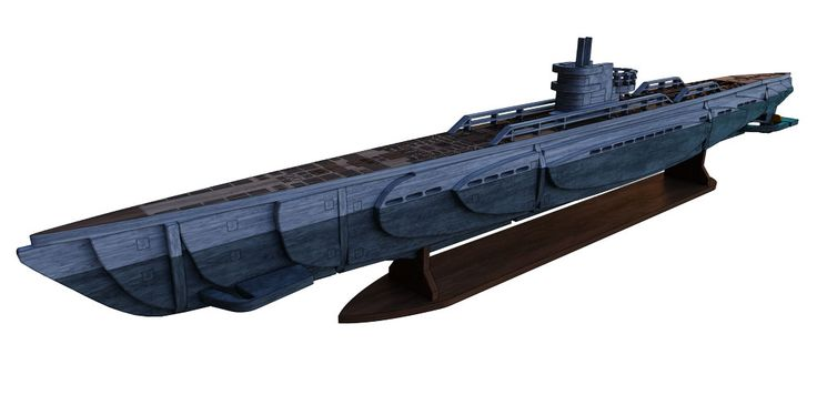 WWII Type IX U-Boat | 3d puzzle | Maquette