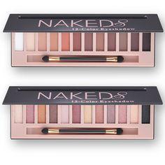 Caliente de La Manera De Marca de Maquillaje A Prueba de agua 12 Color Glitter Shimmer Maquillaje Colores Naked Paleta de Pigmentos de Sombra de Ojos Profesional
