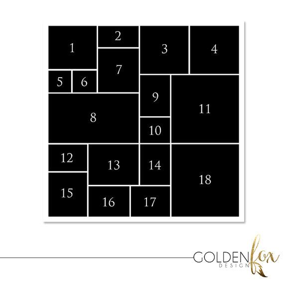 12 X 12 Storyboard Template Photo Collage By Goldenfoxdesign