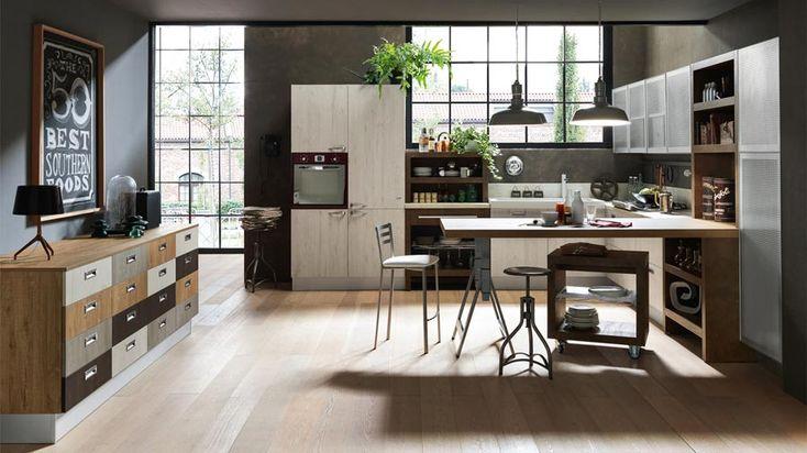 Atmosfera raffinata e rigore accogliente nella tua cucina in stile industriale.