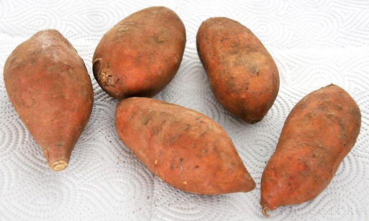 miss red fox: Süsskartoffel-Pommes aus dem Ofen