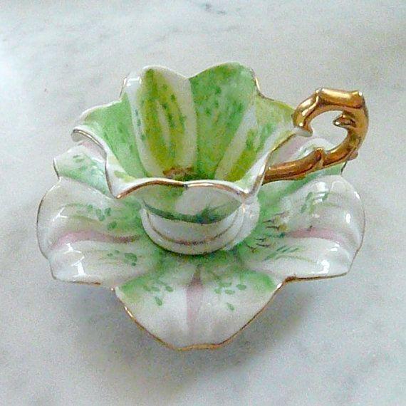 FAIRY PRINCESS Miniature Tea Cup & Saucer Gorgeous by HamiltonBay, $25.00
