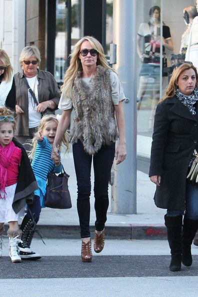Taylor Armstrong Vest - Taylor Armstrong gave her street threads a luxe touch with a furry vest.
