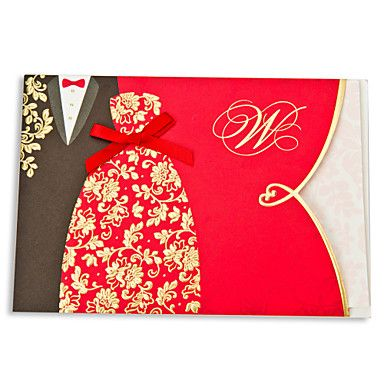 Asian Style Embossed Wedding Invitation   Set Of 50 U2013 USD $ 82.99