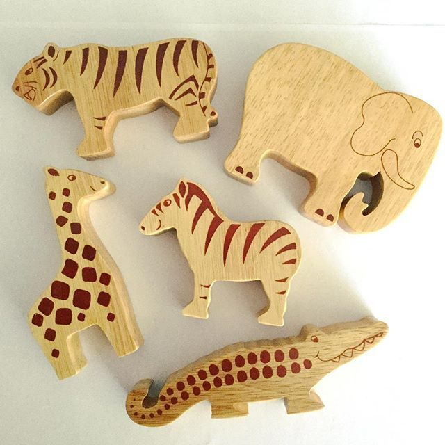This competition is now closed - The winner is . . . @kaseyandsavvi! 🎉 💜💙💚💛❤ It's #WorldFairTradeDay tomorrow! To celebrate we're giving away this bundle of natural wood Lanka Kade animals, to enter simply LIKE this photo! Winner announced 12pm Monday 15th May. 🐅🐘🐊🐾  _____________  Open to UK mainland only due to postage costs. One winner will be chosen at random on Monday 15th May at 12pm. As per Instagram rules, we must mention that this competition is in no way sponsored…