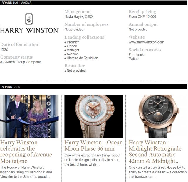 Discover the Harry Winston'slatest news and novelties on WtheJournal.com http://www.wthejournal.com/en/brand/category/harry-winston