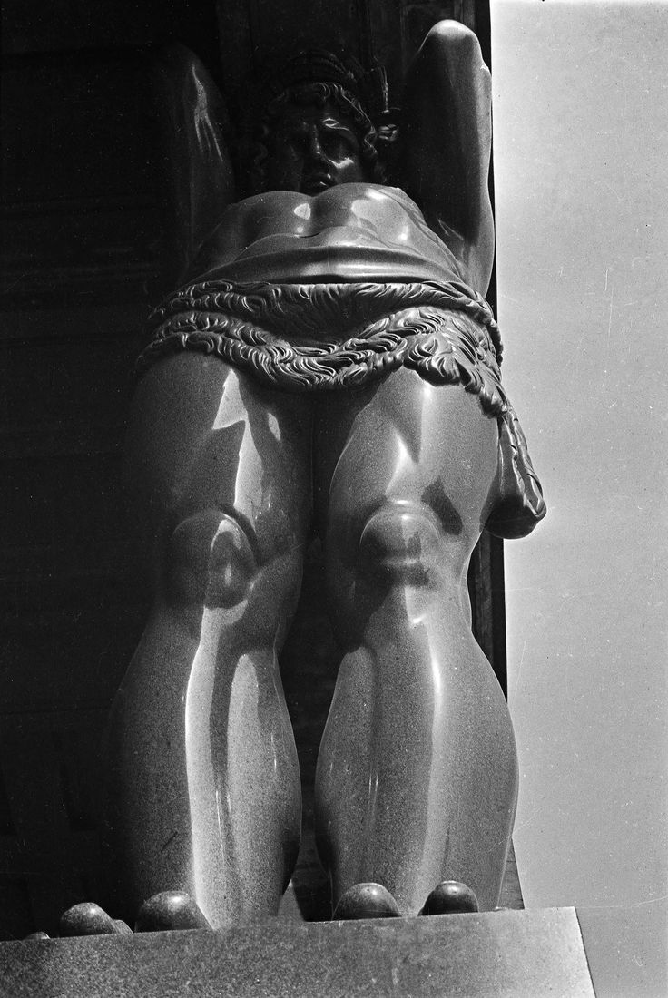 An Atlantean, 1931. One of 10 figures of Atlanteans on the Hermitage portico, by the sculptor Terebenev. He prepared them over the course of two years, with help from about 150 stone masons, finishing in 1848. Leningrad, Russia