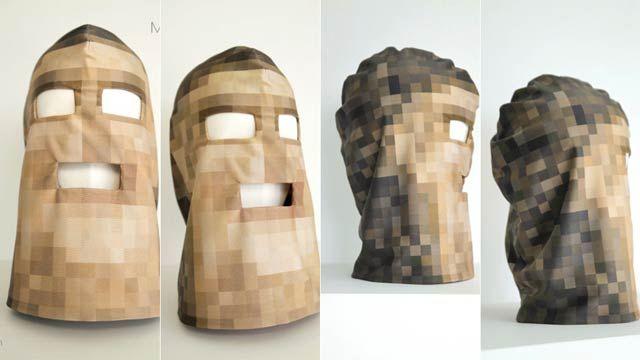 モザイクのフルフェイスマスクが怖いです。 : ギズモード・ジャパン