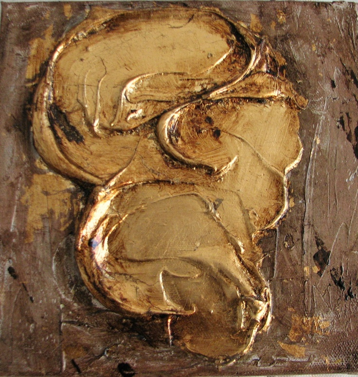 That's him, mixed media and gold leaf on canvas  http://www.italiaworldwide.com/arts/en/ecco-lui.html