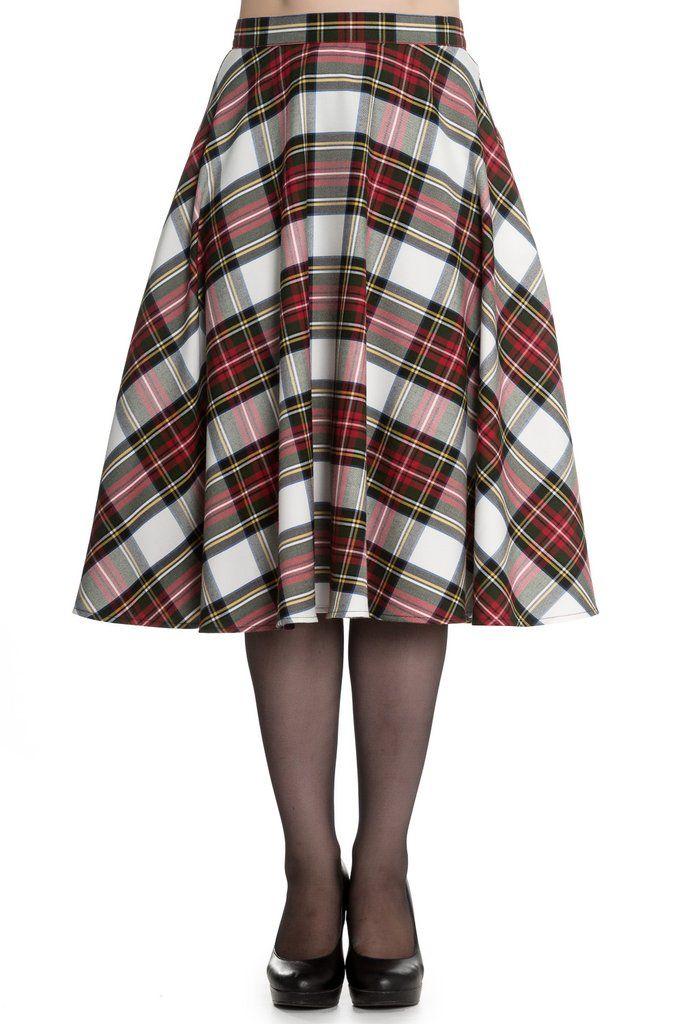 Hell Bunny Doralee Stewart Tartan Skirt