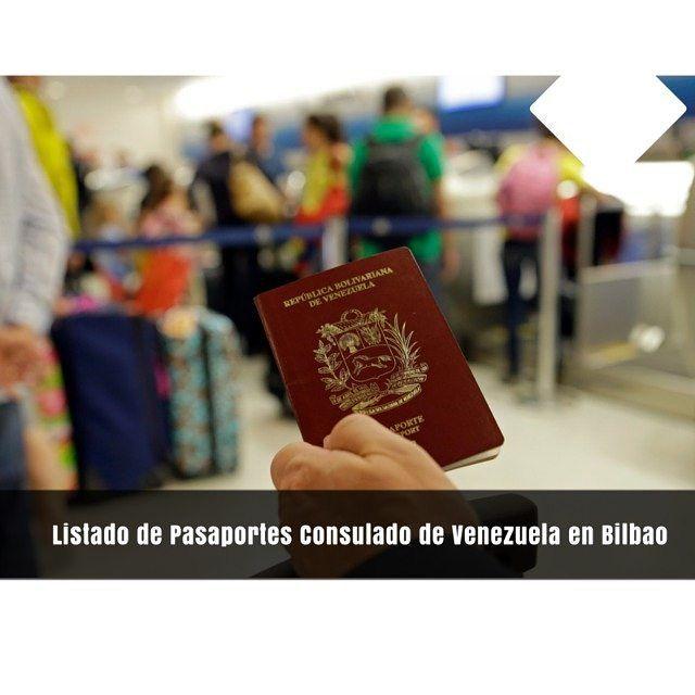 TWITTER 0  PINTEREST 0  GOOGLE 0  LINKEDIN 0  WHATSAPP  El Consulado de Venezuela en Bilbao Informa:  pasaporte consulado de venezuela en bilbao  HORARIO PARA LA ENTREGA DE PASAPORTES  La entrega de pasaportes se realizará entre las horas: 09:00 a 14:30 (09:00 a 02:30 PM)  Para la entrega del nuevo pasaporte será indispensable la presentación de su pasaporte anterior y la constancia que se le entregó el día de la cita.  Los menores de edad sin cédula de identidad no están reflejados en las…