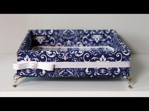Reciclagem: Bandeja Feita com Caixa de Papelão e Tecido l Do Lixo ao Luxo - YouTube
