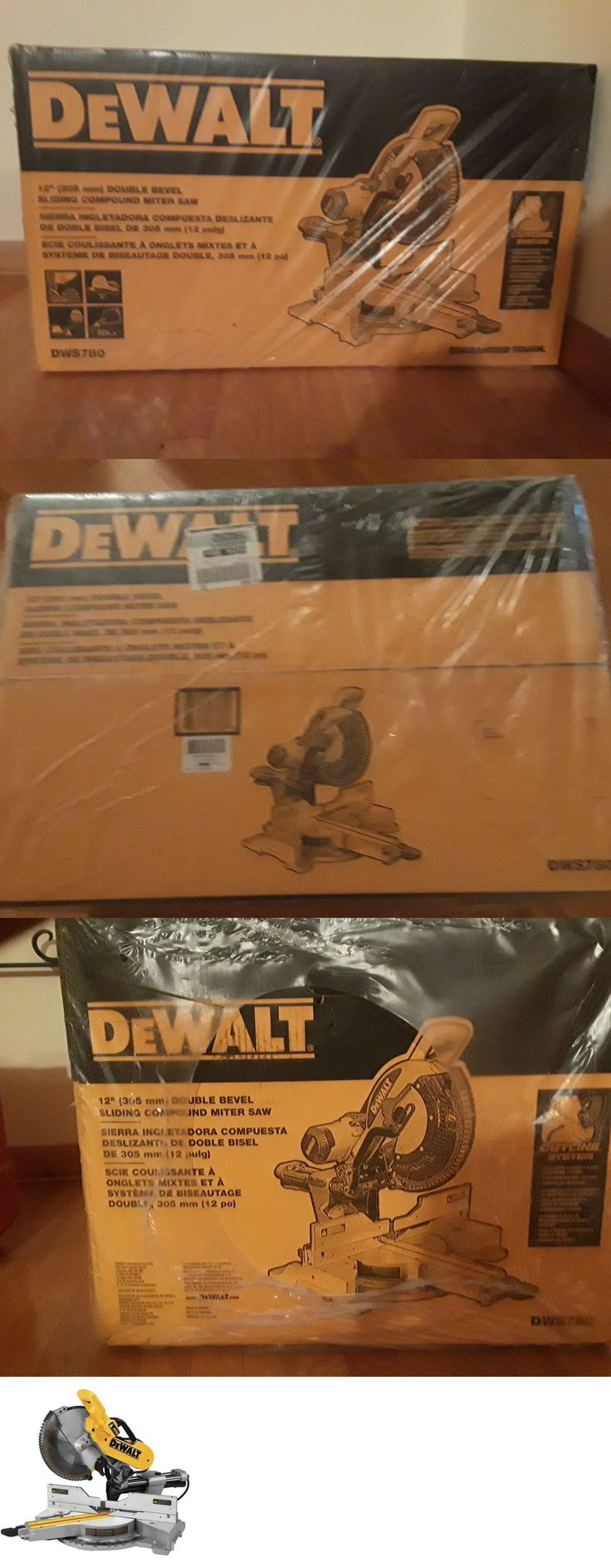 Miter and Chop Saws 20787: New Dewalt Dws780 12 Double Bevel Sliding Compound Miter Saw New In Box Sale -> BUY IT NOW ONLY: $350 on eBay!