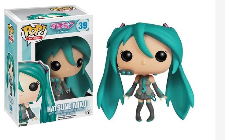 Funko POP Hatsune Miku VOCALOID Vinyl Anime mini Musical Little Girl Collection Figure Model Toy with 16cm fancy box for Kids