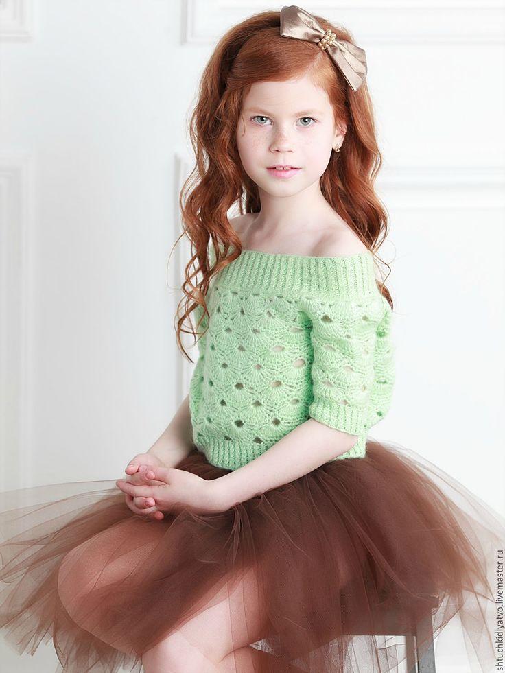 Knitted pullover / Купить Вязаный пуловер мятного цвета - мятный, мохер, пуловер вязаный, кофта вязаная, ажур
