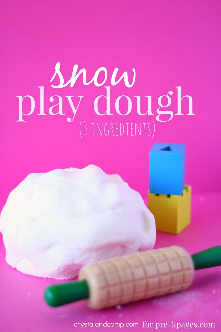 Classroom Recipes: 3 Ingredient No-Cook Snow Play Dough for Preschool