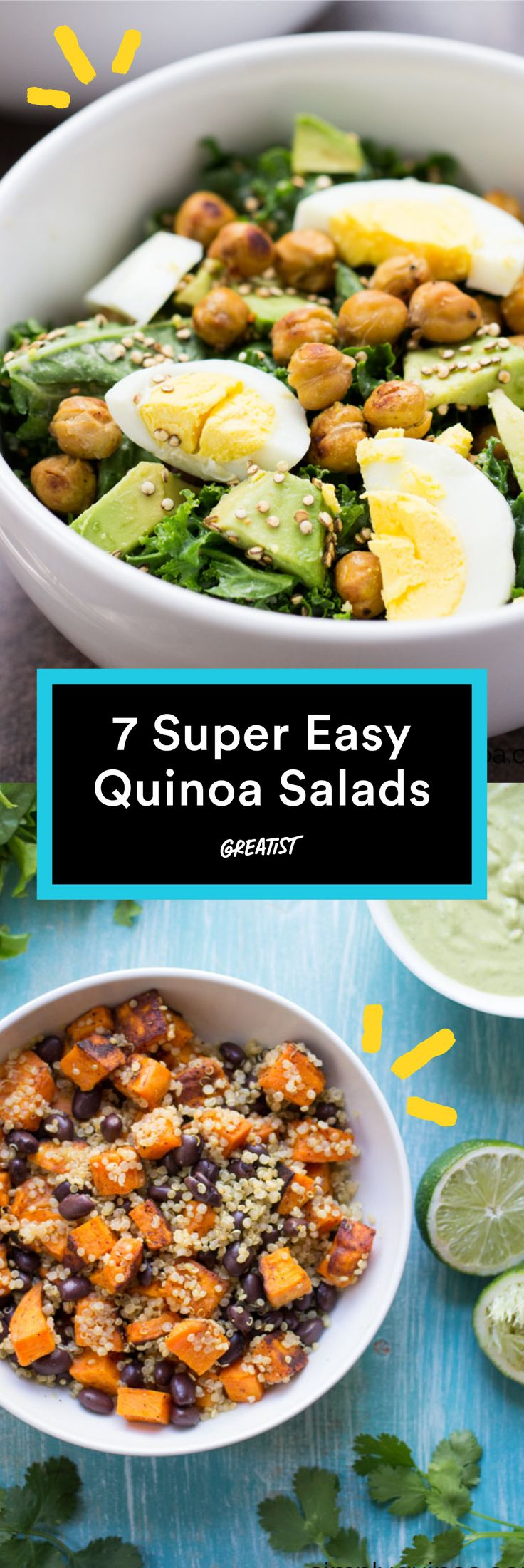 It doesn't get better than these bowls. #Healthy #Quinoa #Salads http://greatist.com/eat/quinoa-salads-we-cant-wait-to-dig-into