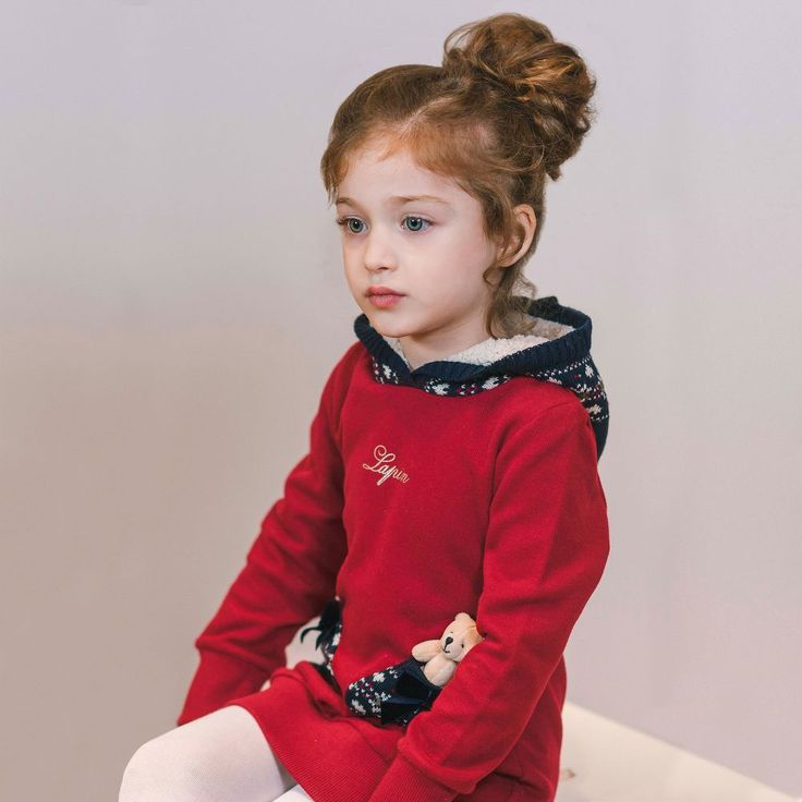 https://www.childrensalon.com/checkout/cart/#a_aid=51f456f914eb5 Lapin House - Girls Burgundy Sweater Dress |
