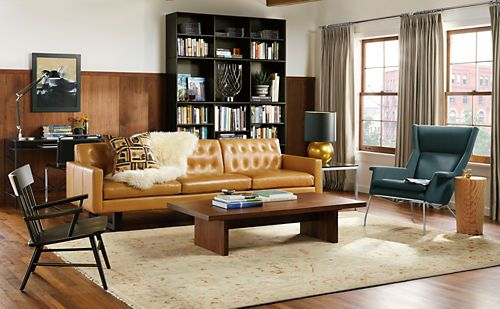 21 Best Cognac Leather Images On Pinterest Living Room