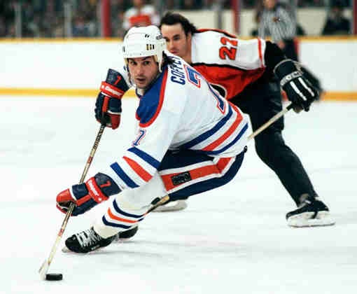 Paul Coffey when he played for the Edmonton Oilers.