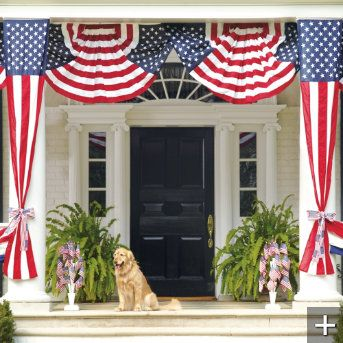 I want the porch and the 4th of July Decor!  So pretty!!!!