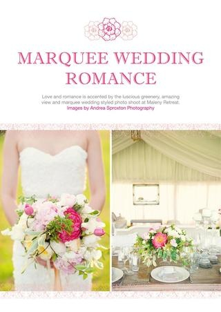 Marquee Wedding Romance.  The Bride's Tree Issue 4 - Free Online Magazine    Photography by: Andrea Sproxton Photography