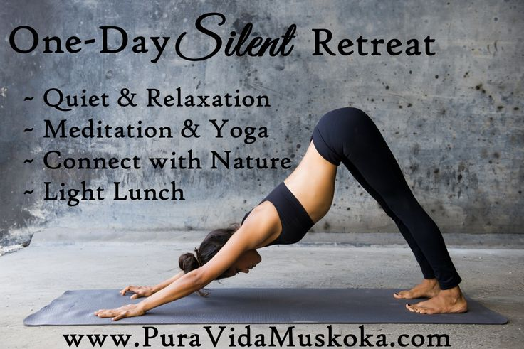 One-Day Silent Retreat at Pura Vida Soul Institute Inc.  www.PuraVidaMuskoka.com