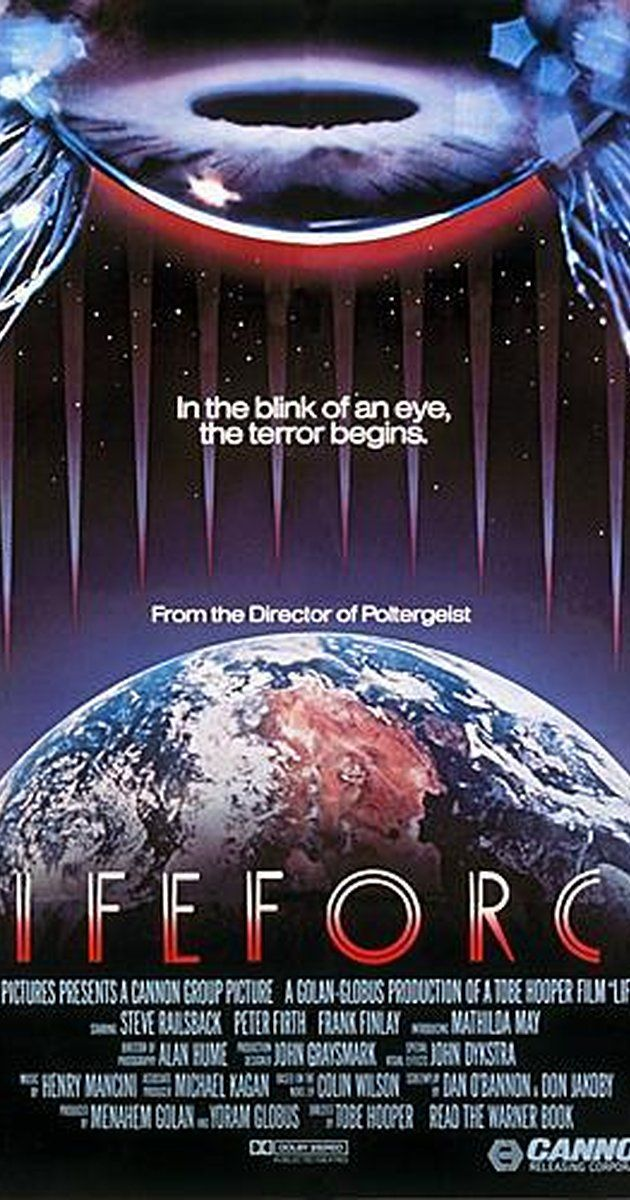 Directed by Tobe Hooper.  With Steve Railsback, Mathilda May, Peter Firth, Frank Finlay. A race of space vampires arrive in London and infect the populace.