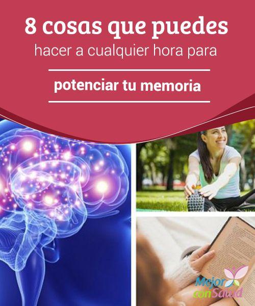 8 cosas que puedes hacer a cualquier hora para potenciar tu memoria  La memoria es un fenómeno complejo de la mente que nos permite adquirir, almacenar y recuperar información, ya sea a corto o largo plazo.