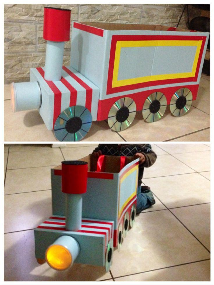 Tren con material reciclable proyectos que intentar - Material para manualidades infantiles ...
