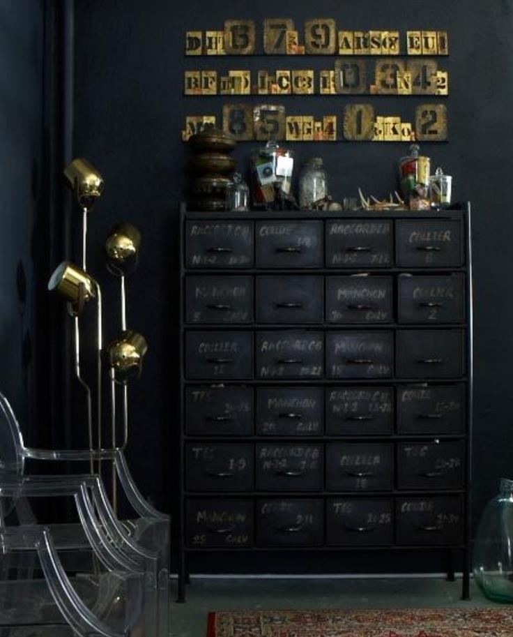 Dark Timber Brass and Plexiglass
