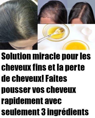 Solution miracle pour les cheveux fins et la chute des cheveux! Cultivez vos cheveux rapidement avec seulement 3 ingrédients   – Recette santé minceur