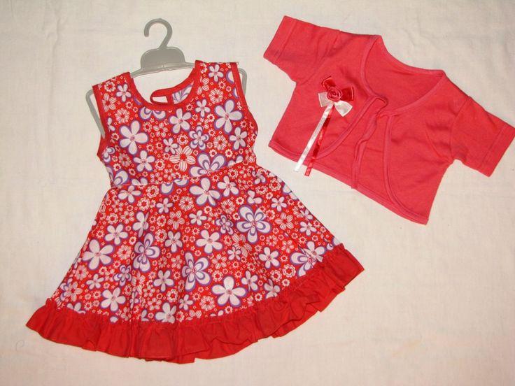 Платье и болеро для девочки, р.80-86, цена 280 руб