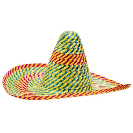 Mexicaanse hoed gekleurd 50 cm