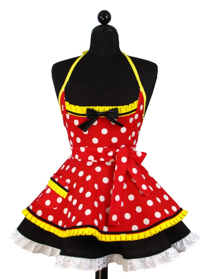 A Minnie Mouse apron LOL