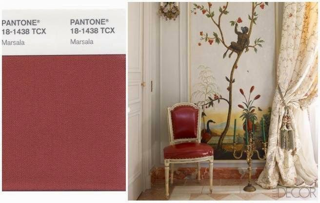 Delicate and elegant Marsala Styling of this space.