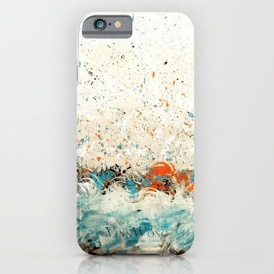 Blue and orange Japanese minimal abstract phone case design for iPhone 6, iPhone 5S/C, iPod Touch, Galaxy s6/s5/s4 | International Shipping | Full collection www.vinnwong.com | Click to Shop or Pin it For Later!