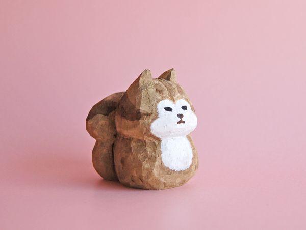 木彫り人形 りす [MWF-166]