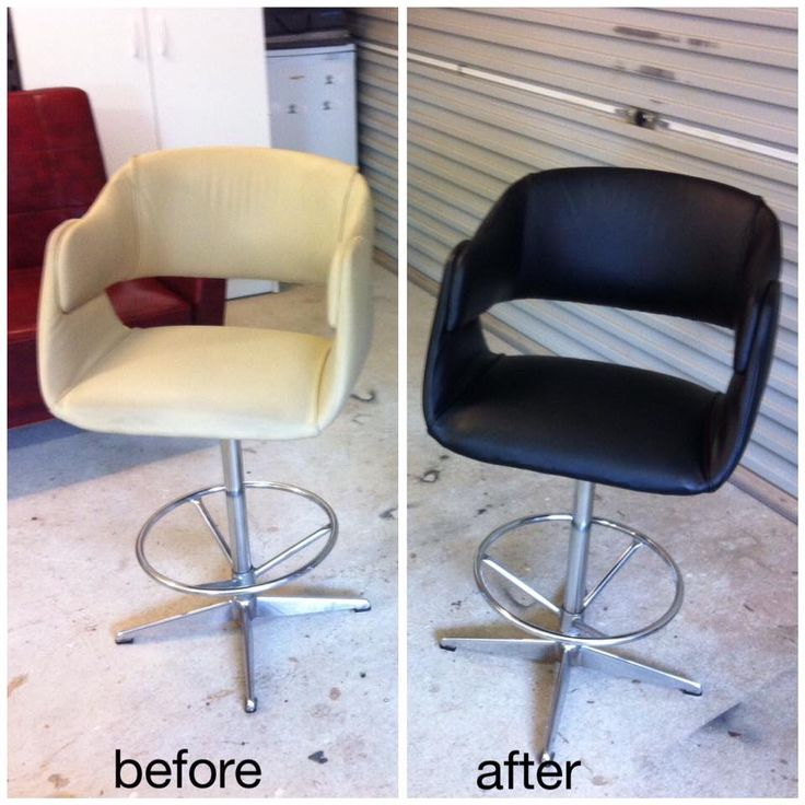 Recently reupholstered , loving the classic black !