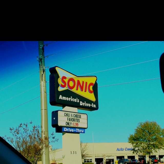 Sonic :)  I  have to have their lemonade with a veggie burger, that is all veggies no meat at all.. they know me by name :-)