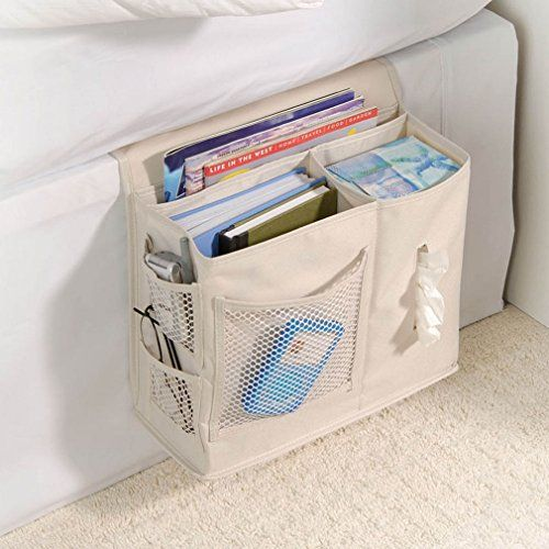 Using organizers inside an RV helps to keep small spaces clutter-free and manageable. This Gearbox Bedside Caddy has multiple pockets allowing for streamlined storage of lightweight items like books, glasses and tissues.