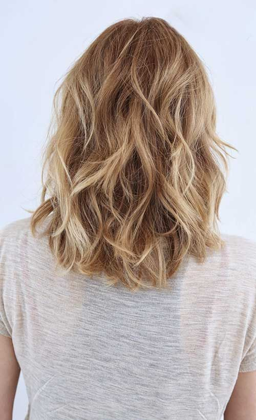 Layered Blonde Mid Bob