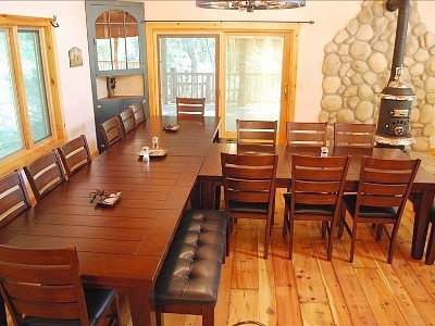 T shaped table for gatherings: Shape Tables, Weird Though Maybe, Though Maybe Awkward, Finding Rooms, Comforter Chairs, Huge Tables