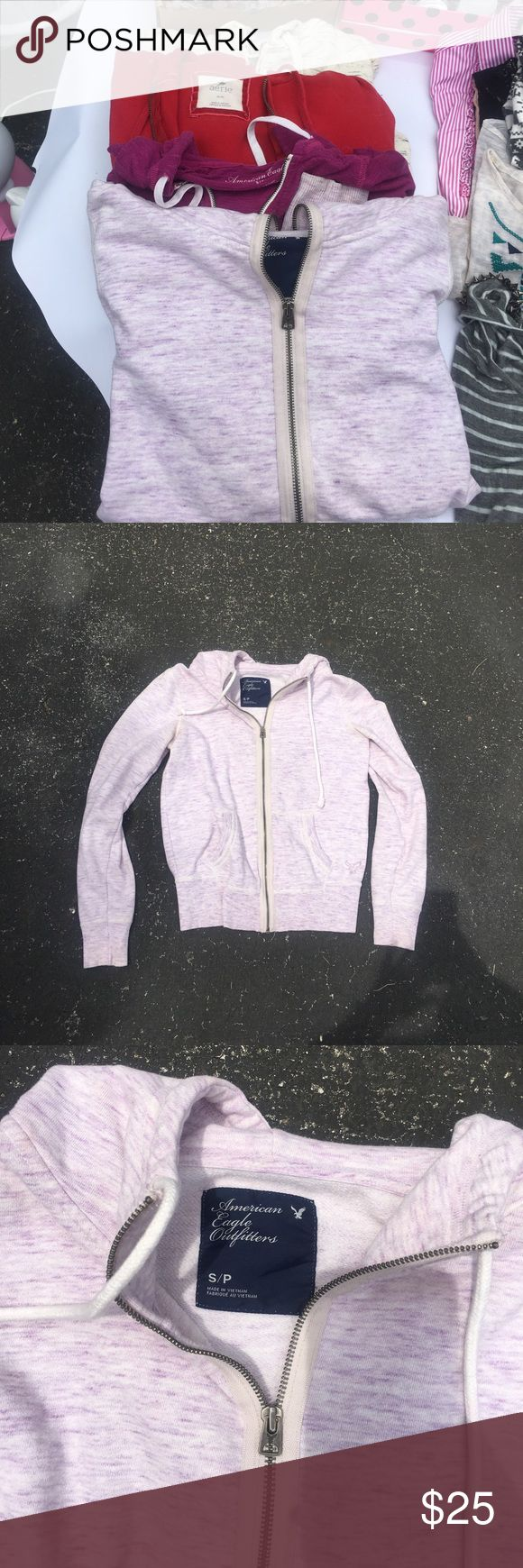 Lot of 4 zip up hoodies S ❤️ Lot of 4 American eagle aerie and f21 zip up jackets 2 American eagle are smalls aerie is a medium and F21 is a large all fit a size small American Eagle Outfitters Tops Sweatshirts & Hoodies