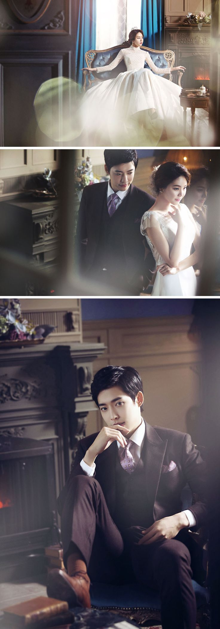 Vintage & luxrious // Korean wedding photography // Bong Studio