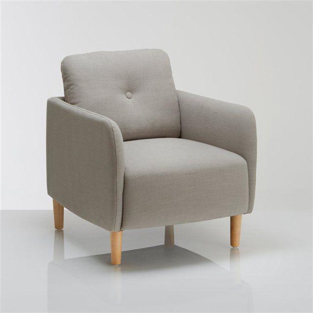 Design et confortable on craque pour le fauteuil scandinave jimi il trouvera facilement sa place en combinant faible encombrement et